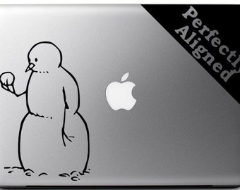Calvin & Hobbes inspired Snowman vinyl decal for Macbooks, Laptops, Cars, etc...