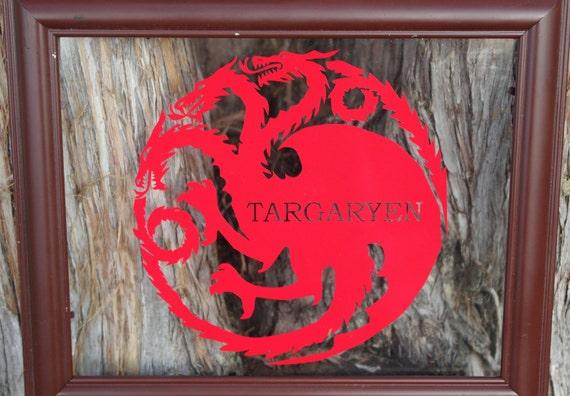 "Vinyl Decal - 5"" Game of Thrones inspired House Targaryen Crest for Macbook, Laptop, Ipad, etc."