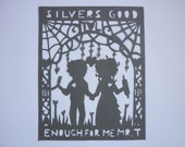 Sweeney Todd and Mrs Lovett Paper-Cutting Art