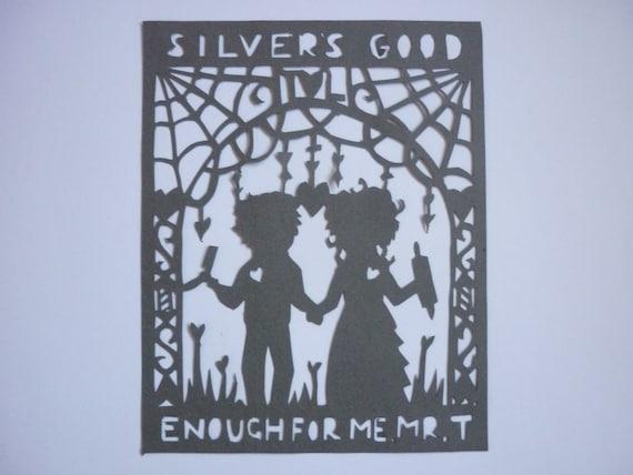 Sweeney Todd and Mrs Lovett Paper-Cutting Art