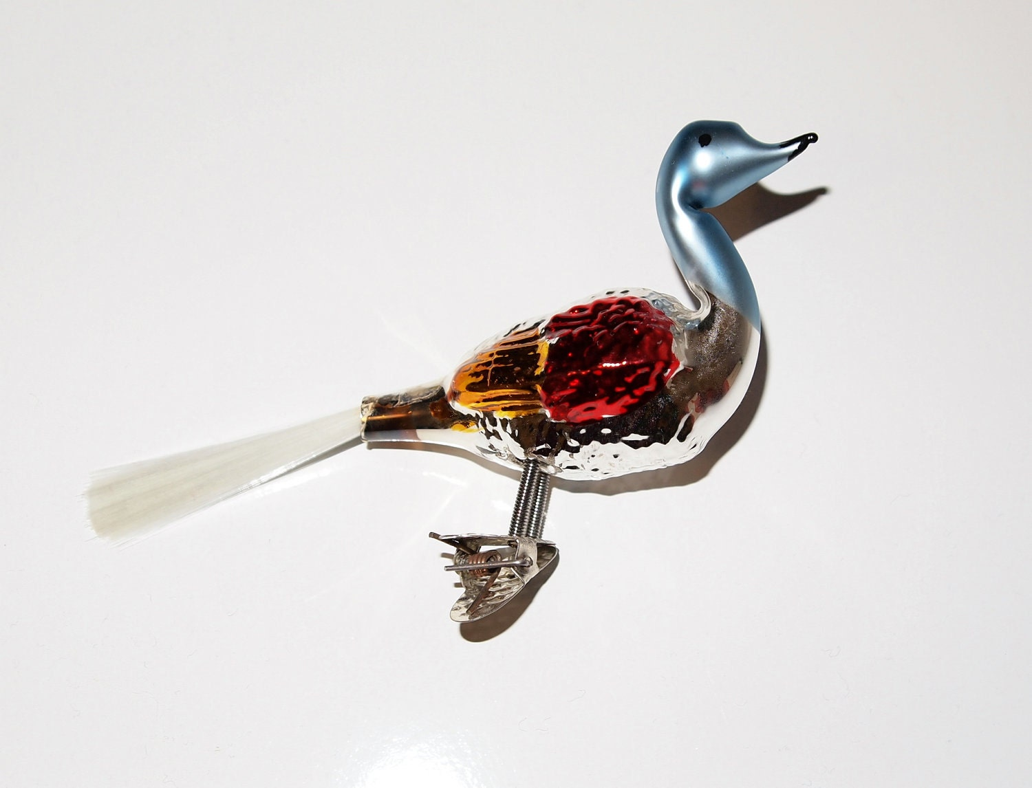 Vintage Clip On Bird Christmas Ornament by LeighaBee on Etsy