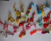 1980's Vintage Plastic Charms - Assorted lot