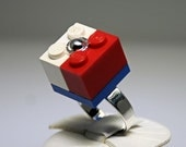 Red, White and Blue Ring made with LEGO (R)