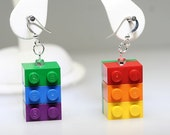 Rainbow Pride Earrings made from LEGO (R)