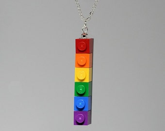 Rainbow Pride Pendant made with LEGO (R)