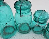 4 beautiful ball jars
