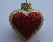 Handmade Heart Shaped Ornament Great Christmas, Birthday and Valentine's Day gift.