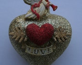 Handmade Heart Shaped  Ornament Great Christmas, Birthday and Valentine's  gift