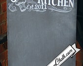 Personalized Kitchen chalkboard Sign  - Custom chalk Kitchen Sign - Kitchen Chalkboard