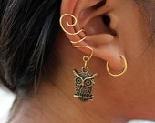 Gold (or Silver) Owl Ear Cuff