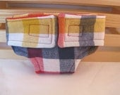 Baby Doll Diaper - Red, Blue, Yellow Plaid - Size Large