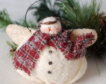 Snowman Angel Ornament