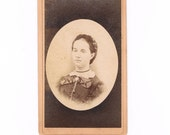 1880's Carte De Visite Photograph of a Well Dressed Girl in Her Late Teens, cdv
