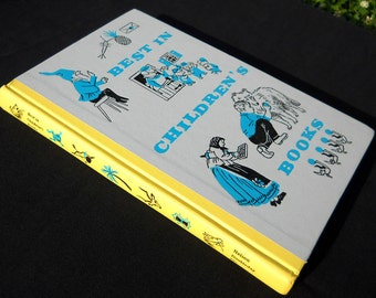 The Best In Childrens Books 1958 vintage hardback book, FREE SHIPPING