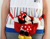 Minnie Mouse Red Fanny Pack Vintage Disney Novelty 80s Early 90s