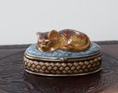 Monet Sleepy Cat Pill Box