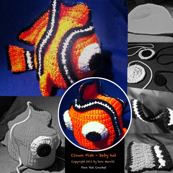 PATTERN - Clown Fish baby hat