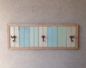 Reclaimed Wood Beadboard Towel, Coat, Wall Hook