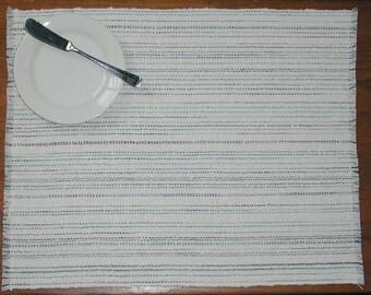 Meg's Wedding Handwoven Placemats, set of 2