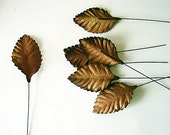 Autumn brown mulberry paper leaves - 2.6 x 4.5cm (10 pieces) - swettacraftsuplies