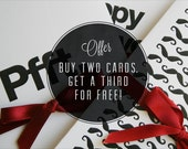 Greeting Card - Buy two cards, get a third for free.