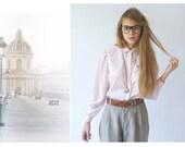 vintage pastel pink shirt/chemise  rose pastel
