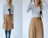 Vintage mustard 70s cotton skirt size medium to small.