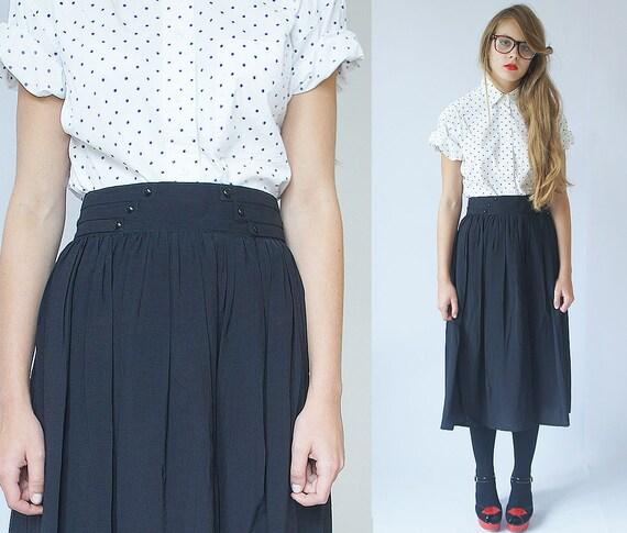 Vintage  black midi skirt size S / M