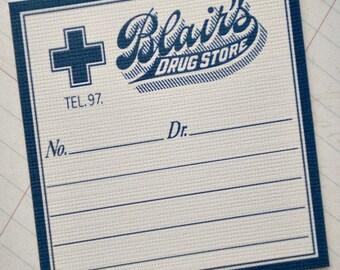 Antique Style Drug Store Labels - Set of 6
