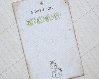 Baby Wish Tree Tags - Personalized - Any color - Set of 12