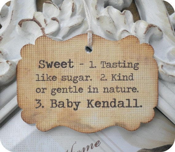 sweet definition baby shower favor tags set of 12 showers favors