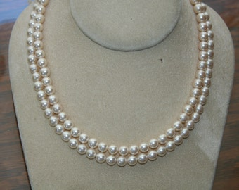Pearl Double Strand Choker Lovely Bride Classic