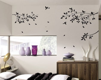 Tree Bird Flower Wall Art / Wall Stickers / Wall Decals from AmazingSticker