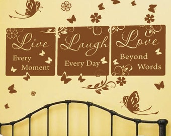 Family Live Laugh Love Wall Quotes Wall Art / Wall Stickers / Wall Decals from AmazingSticker