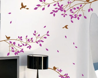 Tree Branches Birds Wall Art / Wall Stickers / Wall Decals  from AmazingSticker