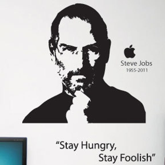 Apple Steve Jobs Wall Art Wall Stickers Wall Decals from