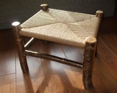 Rustic log stool - Made to order