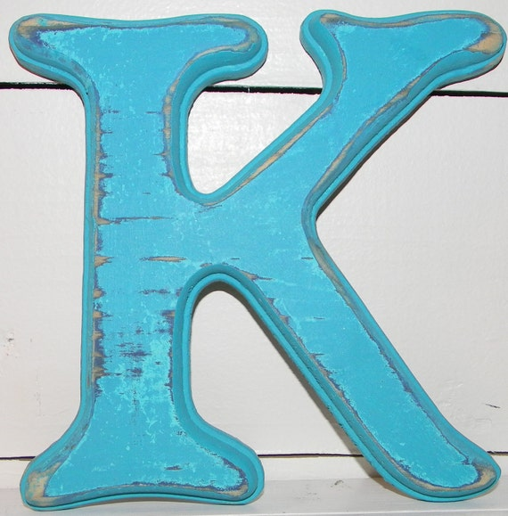 Wall Decor Letter K : Distressed wood letter k wall decor