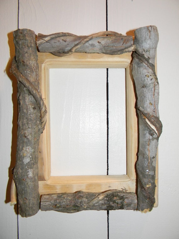 Rustic Wood Picture Frame Cabin Lodge Decor Natural Twig Frame 5 x 7