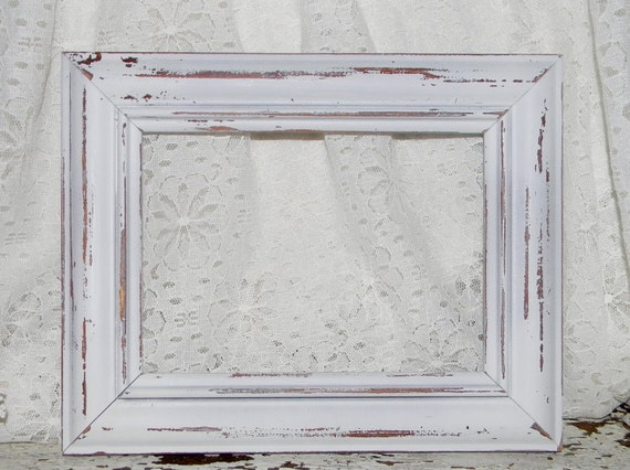 Cottage Chic Picture Frame Distressed Cottage White Shabby