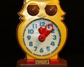 Vintage 1975 Time Teaching Answer Clock Owl Toy by Tomy