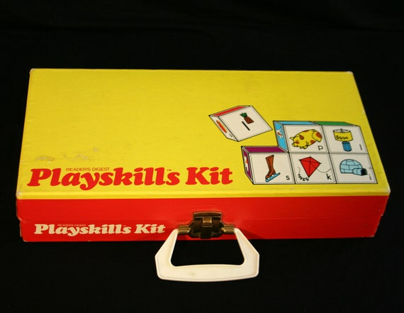 Vintage 1972 Playskills Learning Set full of Educational Games by Reader's Digest