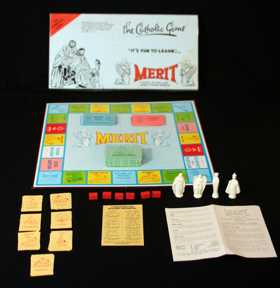 Vintage 1962 Merit The Catholic Game Board Game By