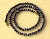 4mm Blue Lapis Lazuli Necklace - VARIOUS Length Options.  Deep Blue Color. MapenziGems