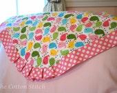 Pink Birdie Blanket for Baby Girl