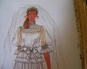 Wedding dress Pattern Mc Calls 7893 Vintage 1982 Jann Johnson