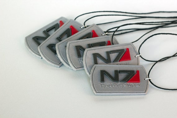 N7 Hold the line dogtags silver