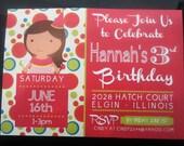 Colorful Birthday Girl Invitation