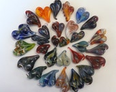 Glass Heart Pendant, You Design, Custom, Memory Locket, Handblown Personalized