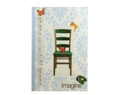 """Journal entitiled, """"Imagine.""""  Anthropologie Style with Musical Notes. 5 in by 7 in with 80 lined sheets."""